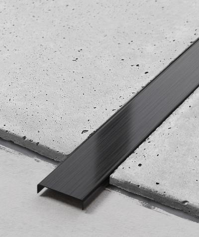 SM - (matte black) - steel decorative strip C