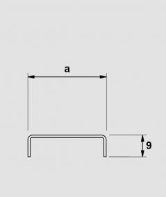 SM - (glossy copper) - steel decorative strip C