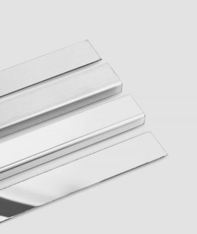 SM - (glossy silver) - steel decorative strip C