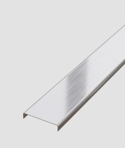 SM - (srebrny matowy) - stalowa listwa dekoracyjna C