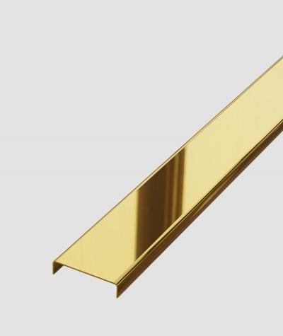 SM - (glossy gold) - steel decorative strip C