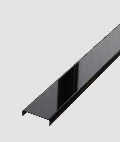 SM - (czarny połysk) - stalowa listwa dekoracyjna C