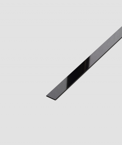 SM - (czarny połysk) - stalowa listwa dekoracyjna płaska