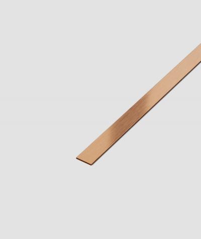 SM - (miedziany matowy) - stalowa listwa dekoracyjna płaska