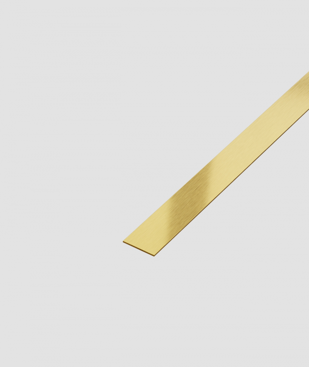 SM - (złoty matowy) - stalowa listwa dekoracyjna płaska