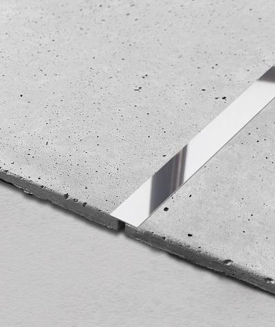 SM - (glossy silver) - steel decorative strip flat