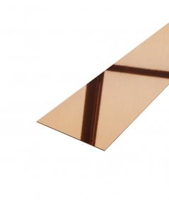 SM - (glossy copper) - steel decorative strip flat