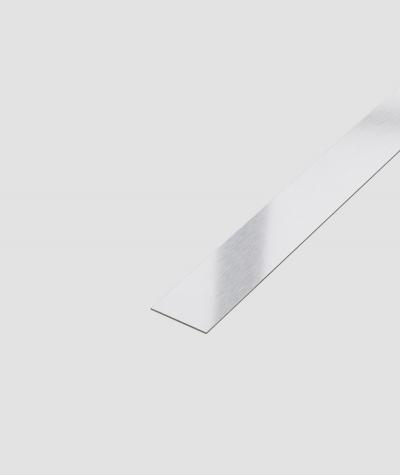SM - (srebrny matowy) - stalowa listwa dekoracyjna płaska