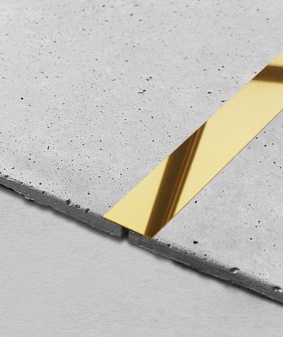 SM - (glossy gold) - steel decorative strip flat