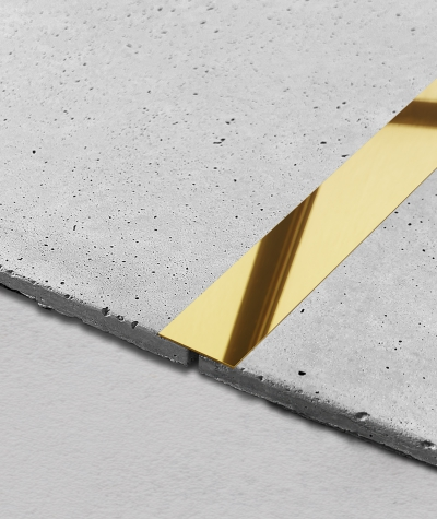 SM - (złoty połysk) - stalowa listwa dekoracyjna płaska