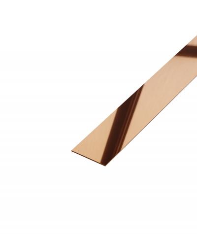 SM - (miedziany połysk) - stalowa listwa dekoracyjna płaska