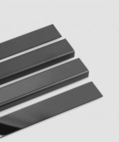 SM - (glossy black) - steel decorative strip flat