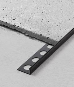 SM - (glossy black) - steel decorative strip J