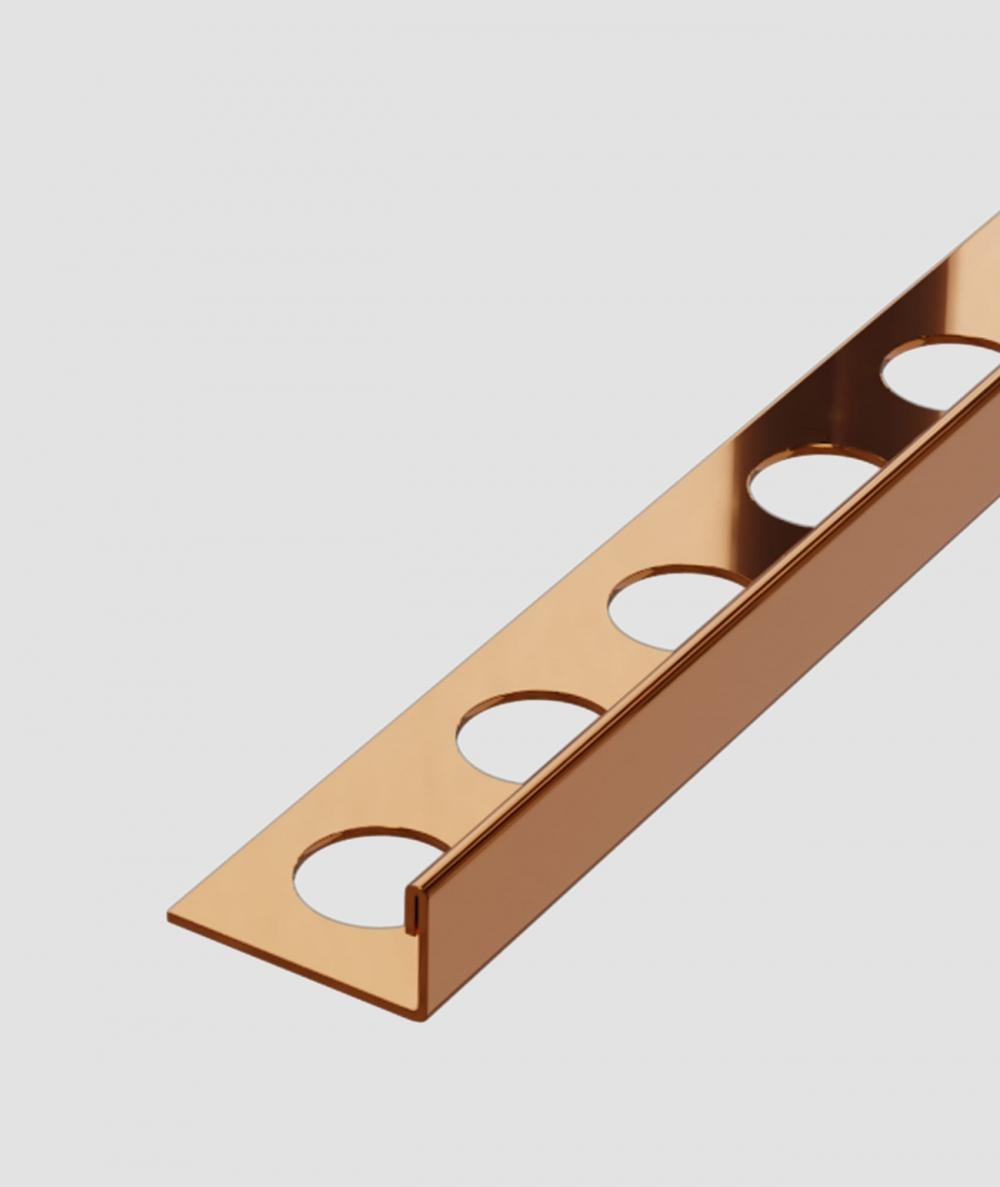 SM - (glossy copper) - steel decorative strip J