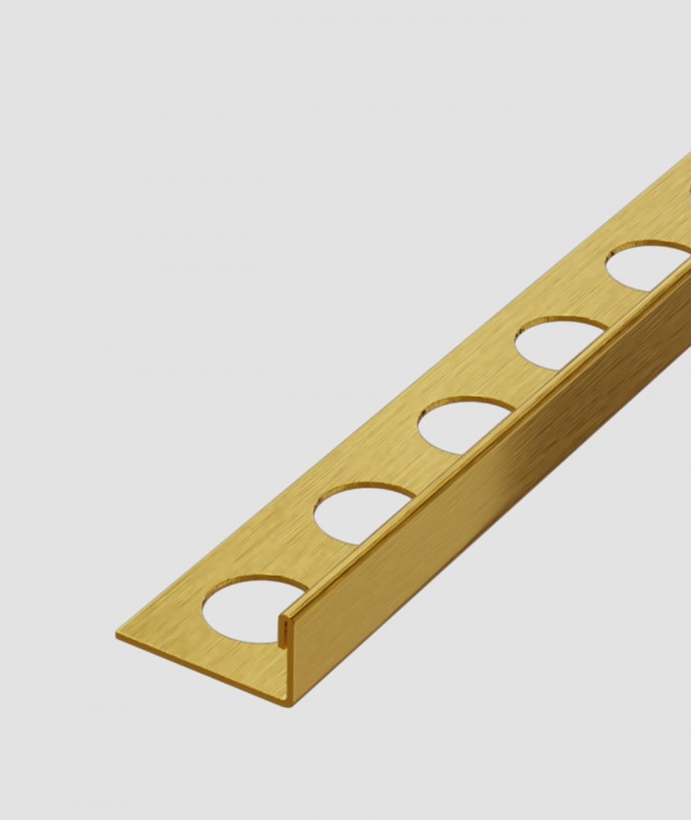SM - (złoty matowy) - stalowa listwa dekoracyjna J