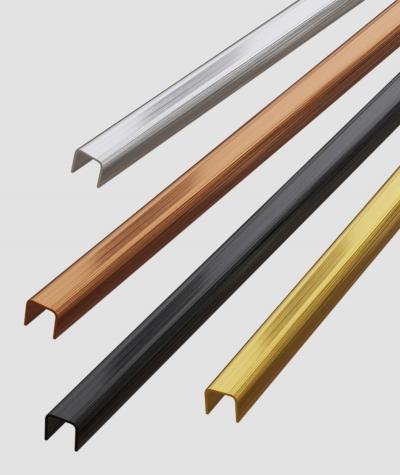 SM - (matte silver) - steel decorative strip J