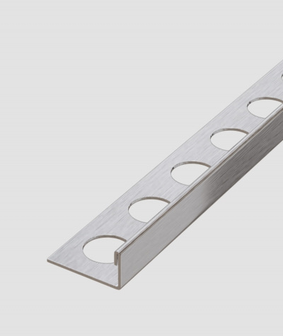 SM - (srebrny matowy) - stalowa listwa dekoracyjna J