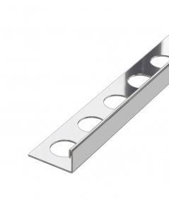 SM - (srebrny połysk) - stalowa listwa dekoracyjna J