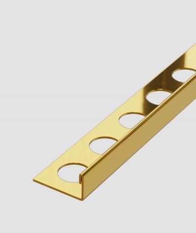 SM - (złoty połysk) - stalowa listwa dekoracyjna J
