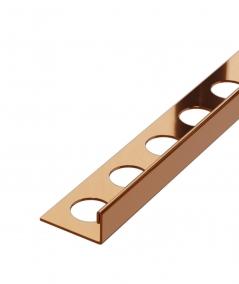 SM - (miedziany połysk) - stalowa listwa dekoracyjna J