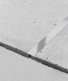 SM - (matte silver) - steel decorative strip flat