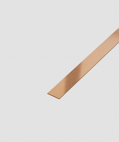 SM - (matte copper) - steel decorative strip flat