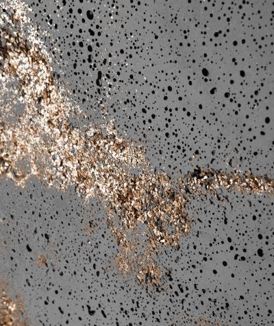 DS (ciemny popiel, złote kruszywo) - płyta beton architektoniczny GRC ultralekka
