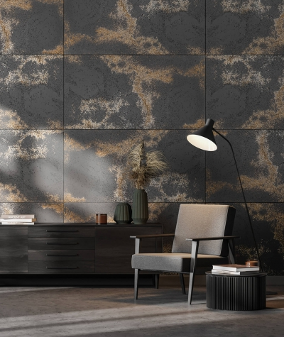 DS (anthracite with gold particles) - architectural concrete slab ultralight