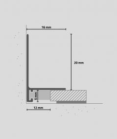 Minileiste - (gold) - Minimalistic skirting profile