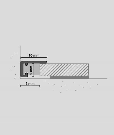 Minileiste - (tytanowy) - Minimalistyczna listwa przypodłogowa