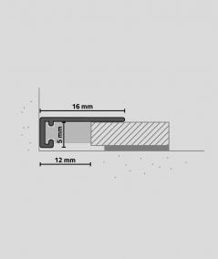 Minileiste - (silver) - Minimalistic skirting profile