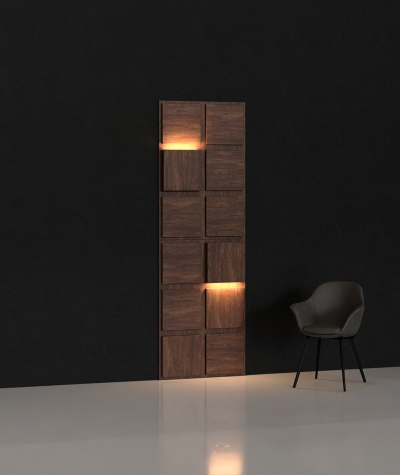 BLOOKi 3D panel with integrated lighting - classic vintage