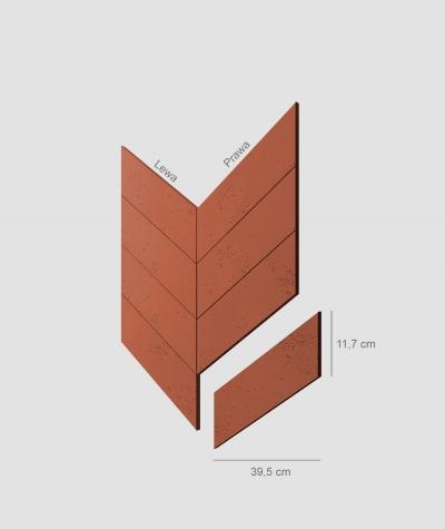 VT - PB35 (C4 brick) HERRINGBONE - architectural concrete decor panel