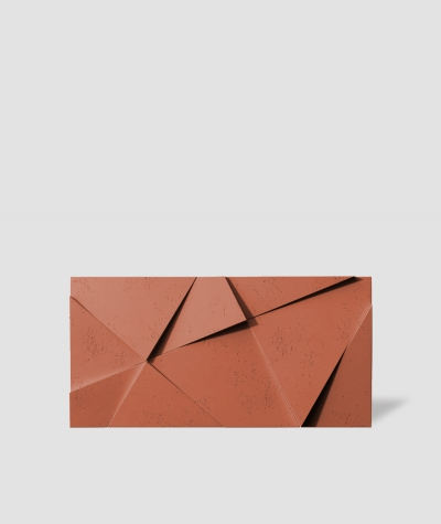 VT - PB05 (c4 ceglasty) KRYSZTAŁ - panel dekor 3D beton architektoniczny