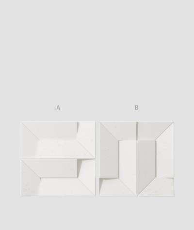 VT - PB26 (BS snow white) Ori - 3D architectural concrete decor panel