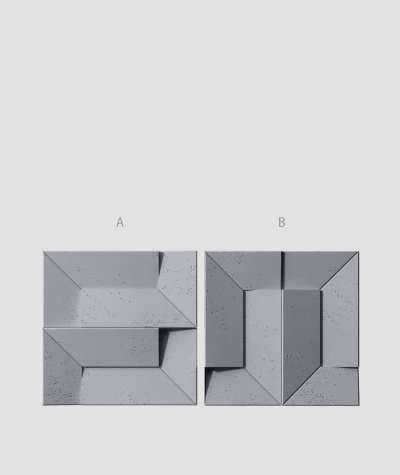 VT - PB26 (B8 antracyt) Ori - panel dekor 3D beton architektoniczny