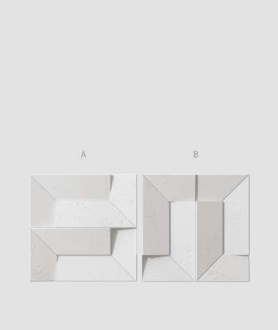 VT - PB26 (S95 jasny szary - gołąbkowy) Ori - panel dekor 3D beton architektoniczny