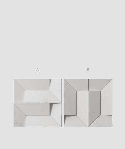 VT - PB26 (S51 dark gray - mouse) Ori - 3D architectural concrete decor panel