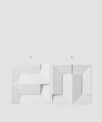 VT - PB26 (B1 siwo biały) Ori - panel dekor 3D beton architektoniczny