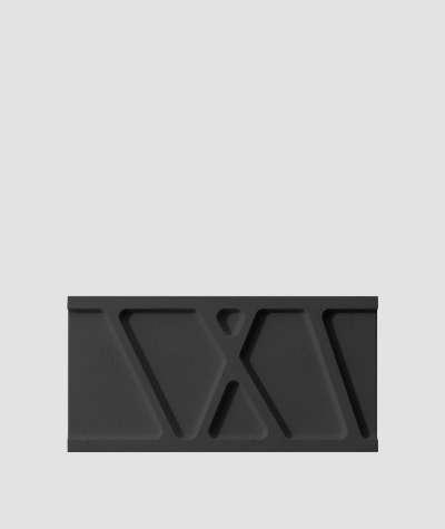 VT - PB24 (B15 czarny) Moduł W- panel dekor 3D beton architektoniczny