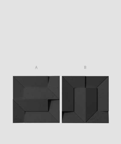 VT - PB26 (B15 czarny) Ori - panel dekor 3D beton architektoniczny