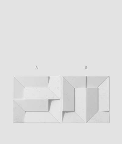 VT - PB26 (S50 light gray - mouse) Ori - 3D architectural concrete decor panel