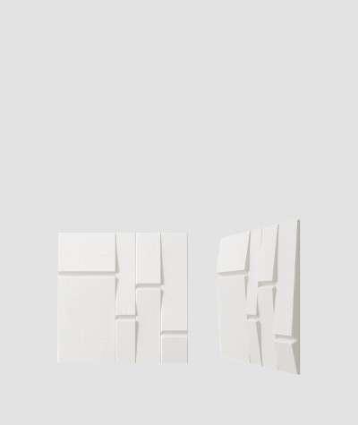 VT - PB25 (BS snow white) Tekt - 3D architectural concrete decor panel
