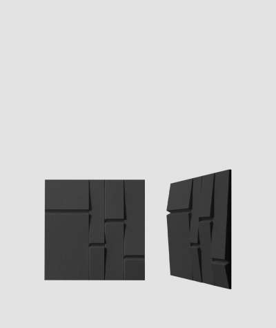 VT - PB25 (B15 czarny) Tekt - panel dekor 3D beton architektoniczny