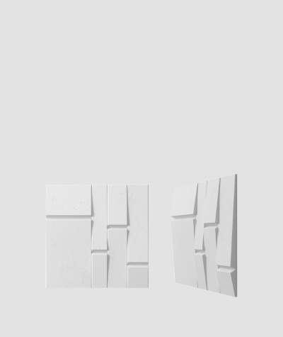 VT - PB25 (S50 light gray - mouse) Tekt - 3D architectural concrete decor panel