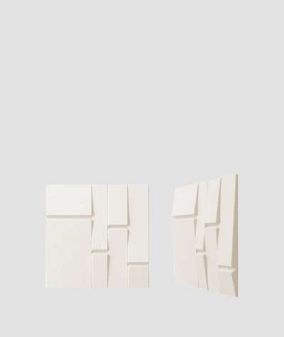VT - PB25 (B0 biały) Tekt - panel dekor 3D beton architektoniczny
