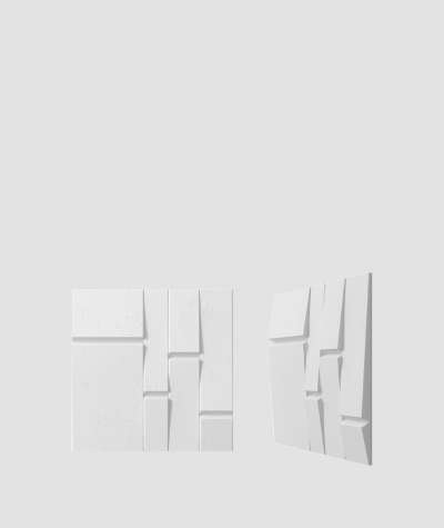 VT - PB25 (B1 siwo biały) Tekt - panel dekor 3D beton architektoniczny
