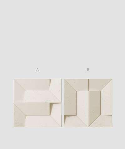VT - PB26 (KS Ivory) Ori - 3D architectural concrete decor panel