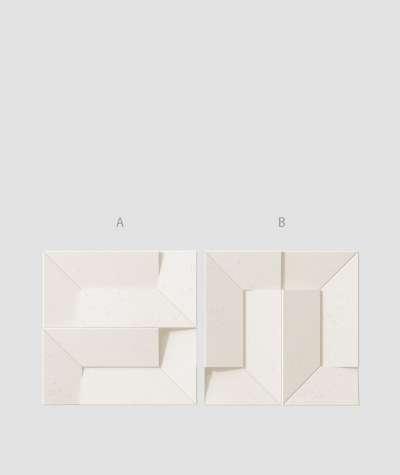 VT - PB26 (B0 biały) Ori - panel dekor 3D beton architektoniczny