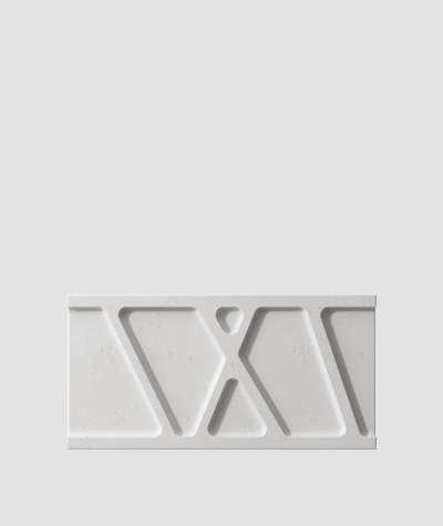 VT - PB24 (S51 ciemny szary - mysi) Moduł W- panel dekor 3D beton architektoniczny